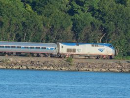 Amtrak P32AC-DM #717 by Tracksidegorilla1