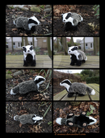 SOLD Plushie: Benton the Badger by Avanii