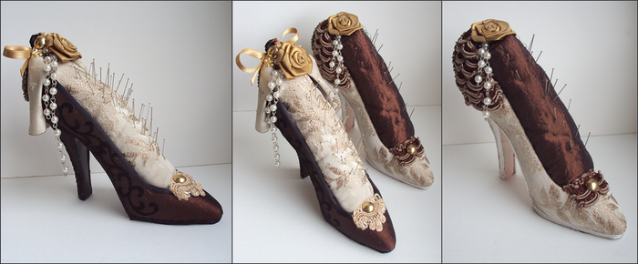 Needle Cushion Shoes by VictorianRedRose
