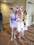Espeon and Sylveon cosplay by videogameking613