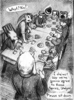 [Never a Lovely So Real] Dinner At Toriel's by Zhamka