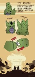 Pokedex Entry: Tyranitar by RandoWis