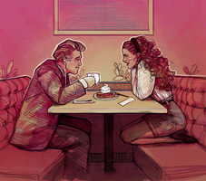 doodles // gordon and shelly // twin peaks by bialykots