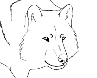 Wolf Lineart by Morgenfluegel