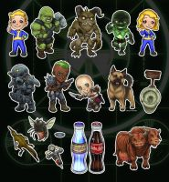 Fallout Chibi Set by ghostfire