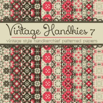 Free Vintage Handkies 7 Patterned Papers by TeacherYanie