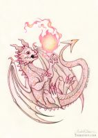 The Baby Armor Dragon by HeatherHitchman
