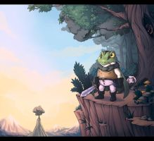 Commission -  Determined Frog by Exarrdian