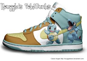 Squirtle + Totodile Nike Dunks by Houggiebear