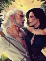 Geralt and Yen by cosmogirll