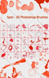 Spot - 32 Photoshop Brushes by absdostan
