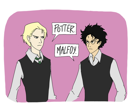 Draco and Harry by Tophita
