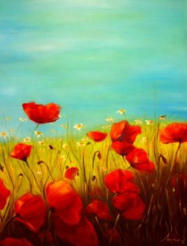 - Poppies - by A-Xofia