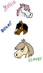 Animal Farm - Mollie, Boxer and Clover by NorthernAndromeda