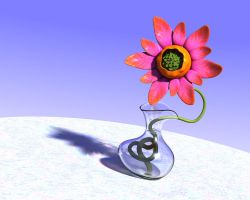 Funky Flower, Funky Vase by parrotdolphin
