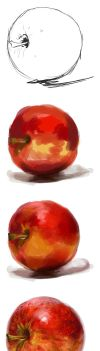 apple painting exercise by CassandraJames