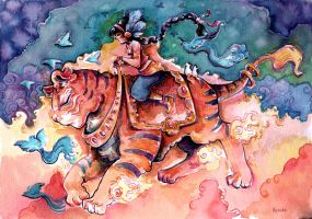 Tiger rider by Pendalune