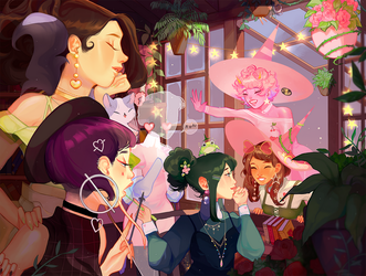 witches coven by rosheruuu