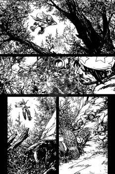 The Cape: Fallen Issue #3 page 8 inks