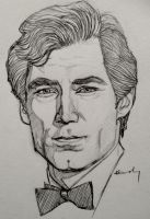 Portrait Sketch - Timothy Dalton by KTGay