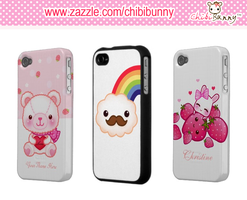 Kawaii cases for Iphone4-4s by BunnyAndI
