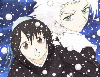 Snow...Momo and Toshiro by SolemnWishes