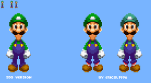 Luigi With Both Socks and Mint Green Colors by ericgl1996