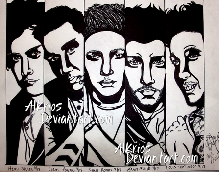 Sketch A Day - One Direction by Brit-Jack