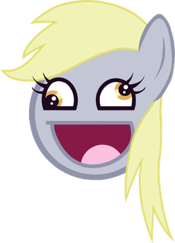 Derpy Hoves Awesome Face by wakabalasha