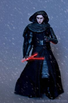 Custom Unmasked Kylo Ren Black Series Figure by Armeleia