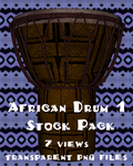 African Drum 1 Stock Pack by Aazari-Resources