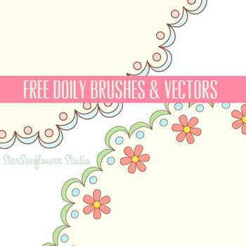 Free Doilies Brushes and Vectors by starsunflowerstudio
