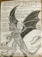 Cryptid Sketch: Jersey Devil (Updated) by Strikerprime