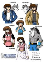 Wolf Brothers Characters 1 by krystlekmy