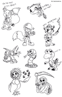 Conker Sketches by Zykalia