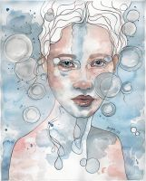 Meditation II, watercolor by jane-beata