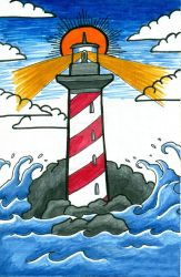 Lighthouse Illustration by ChelseaFerranti