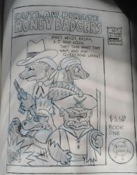 Outlaw Pirate Honey Badgers by NeoPrankster