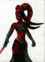 Darth Talon Pencil color. by SweetLittleAki