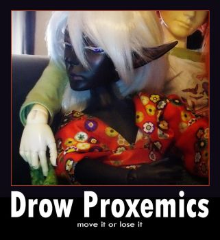 Drow Proxemics by hawthorne-cat