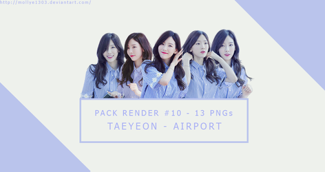 [PACK RENDER #10] TAEYEON by mollye1303