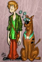 Scooby and Shaggy Apocalypse by pythonorbit