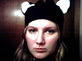 black kitty hat by MissCreepers