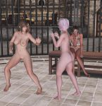 Naked fight! Misaki vs Luna 7 by Toshiie1
