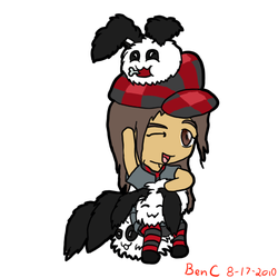 AT Lupe and panda bunnies by Idene