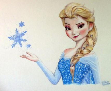 Elsa Drawing - Frozen Fan Art by LethalChris