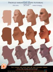 Profile variation steps tutorial pack .promo. by sakimichan