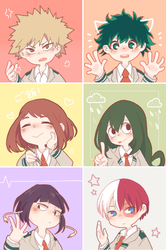BNHA icons by Lovapples