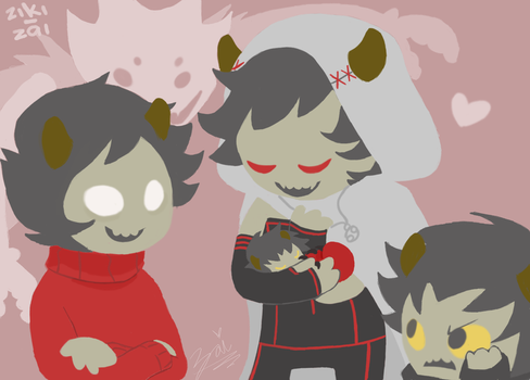 Homestuck - Karkat, Kankri and Sufferer Vantas by ziki-zai