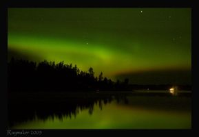 Lights Over Lake by Raymaker